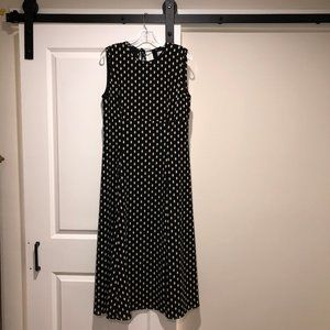 Black and white polka dot Maxi dress size XL